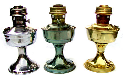 3 metal Aladdin lamps