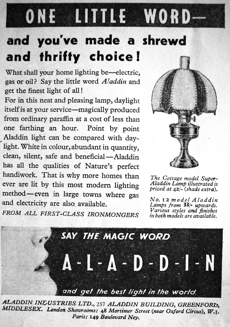 Super Aladdin advertisement