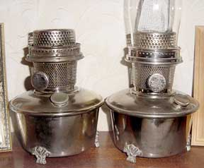 French Aladdin model 12 shelf lamps