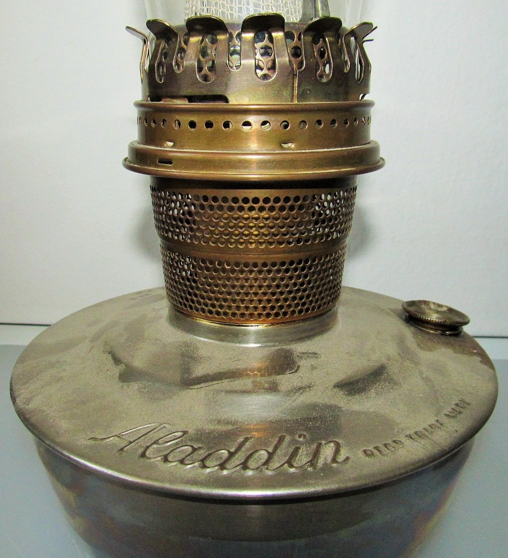 Aladdin marking on Austrian Aladdin model 14 shelf lamp