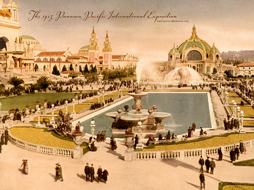 1915 worlds fair postcard