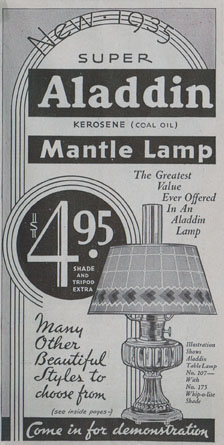 1934 Aladdin lamp catalog