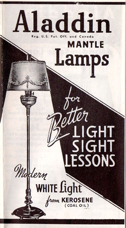 1940 Aladdin lamp catalog