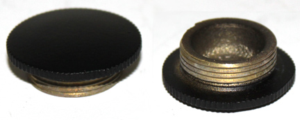 Aladdin model 23A parlor lamp filler caps