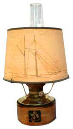 Aladdin model 23 Mariner shelf lamp