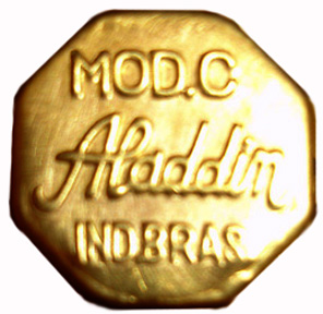 Aladdin model C brass adjuster knob